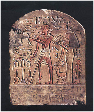 エジプトの石碑い