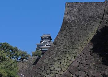 熊本城の石壁アップ